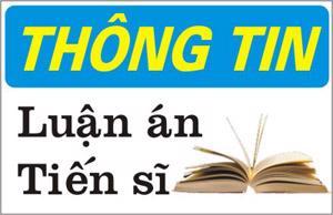Trang thông tin về luận án TS của NCS Lê Trung Kiên