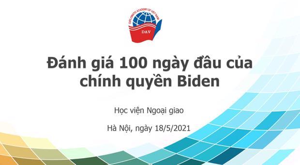 """Tọa đàm liên ngành về """"Chính sách đối ngoại Mỹ trong 100 ngày đầu nhiệm kỳ của Chính quyền Biden"""""""