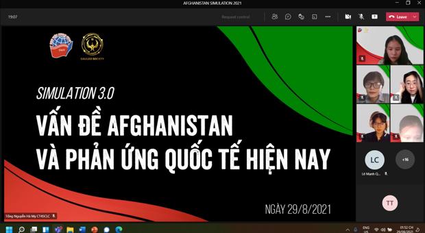 """BUỔI MÔ PHỎNG """"SIMULATION 3.0: VẤN ĐỀ AFGHANISTAN VÀ PHẢN ỨNG QUỐC TẾ"""""""