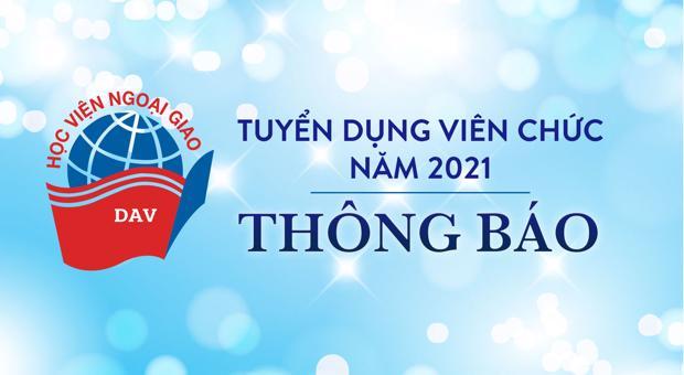 Thông báo: Lịch thi tuyển dụng viên chức Vòng 1 năm 2021